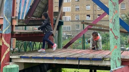 Going up in the world of play... youngsters at reopened Glamis adventure playground