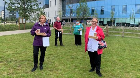 Celebrations were held at Royal Papworth Hospital as individuals thanked staff members at #NHSBigTea day