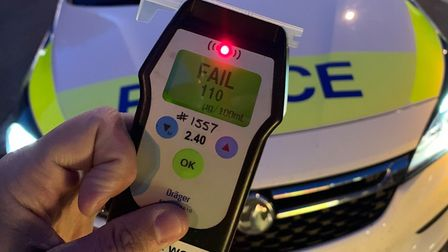 A drink driver in Wisbech was found to be more than three times the legal alcohol limit for driving.
