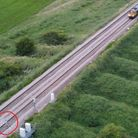 Girl found on Fenland railway track by police drone