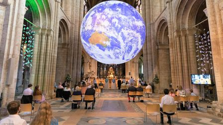 Ordination of Ely Deacons on July 4 at Ely Cathedral, featuring theGaia installation.