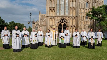Ordination of Ely Priests onJuly 3 atEly Cathedral: second service group shot