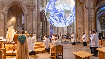 Ordination of Ely Priests on July 3 at Ely Cathedral, featuring the Gaia installation.