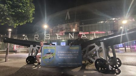 Lee Cracknell outside the Emirates stadium at 3am