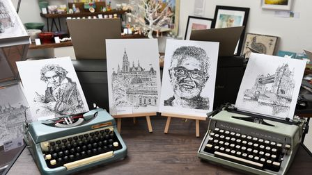 James' work includes celebrity portraits and local buildings