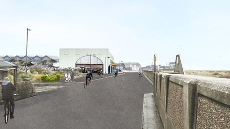 What the new Jaywick Works could look like (view looking east).