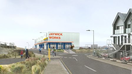 The design for the Jaywick Sands workspace which was submitted as part of the planning application.
