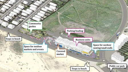 The design submitted as part of the planning application.
