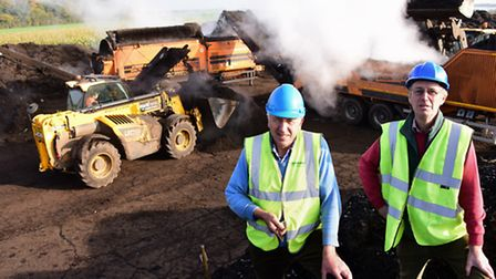 GreenComp directors, Simon Stearn, left, and Ian Thurtle, at their Hethel site where their machinery
