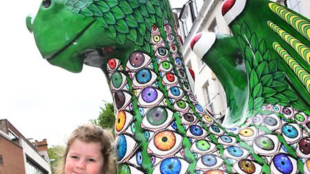 Out on the GoGoDragons! trail around Norwich, Maisie Gibson(4).Picture by SIMON FINLAY.