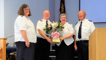 Chatteris Salvation Army leaders Richard and Pauline Cookhave retired for the third time