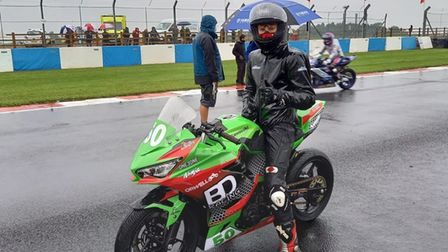 Fred McMullan after his first race at Donington Park.