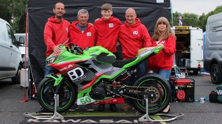 Fred McMullan with his BD Racing team.