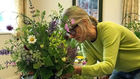Florist Susan Leverick is one of the organisers of Creation Festival, to take place at St Nicholas Church in Bedfield