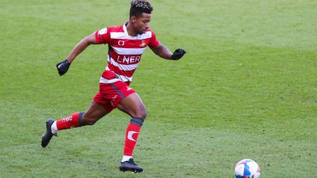 Doncaster Rovers' Jason Lokilo during the Sky Bet League One match at Keepmoat Stadium, Doncaster.