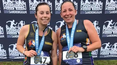 Tamara and Kim won medals in Sandringham for Three Counties Running Club