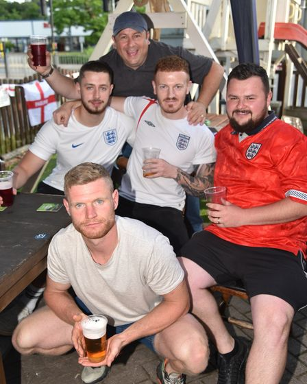 England v Denmark at The Railway Tavern in Dereham Fans get ready for the match