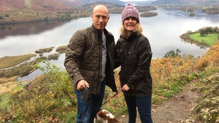 Calvin Beckett andSandra Eglington on holiday in the lake District in 2019.