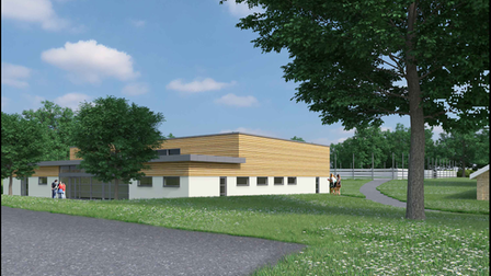 Artists impression of the Gosfield School Performing Arts Centre