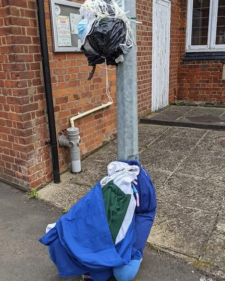 Two scarecrows that were part of a carnival display in Doddington were ruined overnight.