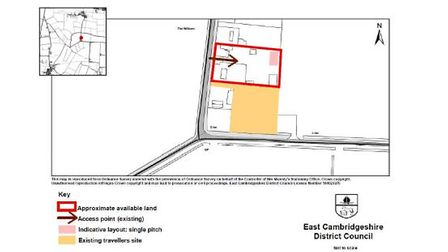 Site of the proposed expansion of a travellers' site at Wentworth