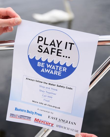 Water Safety Campaign poster, for water safety awareness. Picture: DENISE BRADLEY