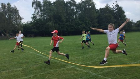 Students at Bacton Primary School were able to take part in their first sports day for nearly two years