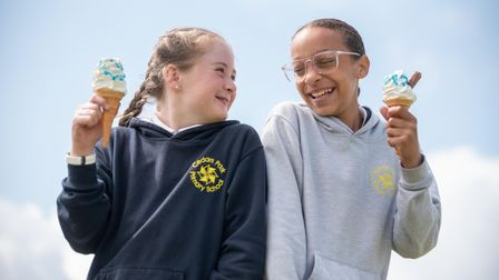 Children at Cedar Park Primary School had a unique learning day with Phil Frost and his ice-cream va