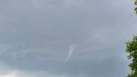 Funnel clouds were captured on camera above Elm Road in March