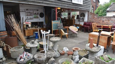 The pair sell a mix of homewares, trinkets and furniture
