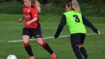 Leah Newcombe in action for Wymondham.