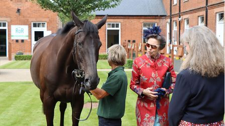 Princess Anne opened a new exhibition at the National Horseracing museum in Newmarket