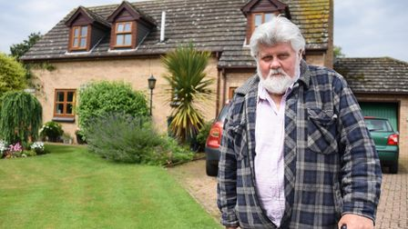Barry Copping of Harleston, one of the residents who are unhappy at the state of five empty council