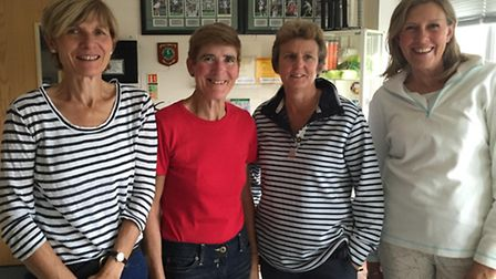 The Norfolk over-50 women's team for 2015, from left, Judy Horn, Sue Rich, Jane Ray and Patricia Pea