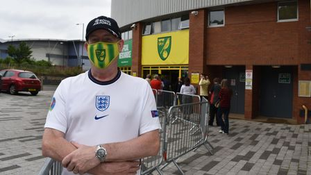 Excitement is building before the Euros final tomorrow night. Picture shows Stephen Linstead, 57, fromHellesdon.