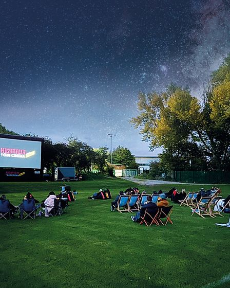 A large screen will show a range of musical films
