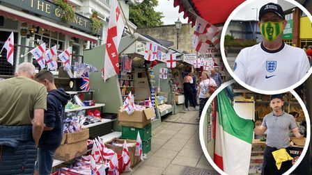 Norwich businesses are flying their flags as excitement builds for theEuros final tomorrow night.