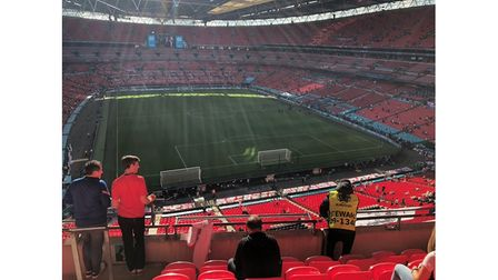 The view for Chris Smith, from Reepham, who was lucky enough to win tickets for the Euro 2020 semi-final.