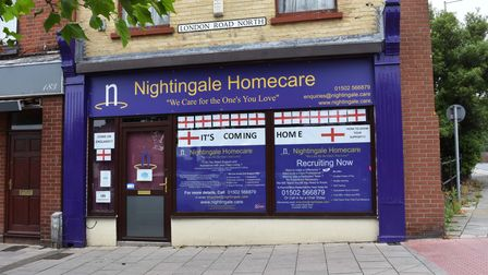 Businesses in Lowestoft showing their support for England ahead of the Euro 2020 final.