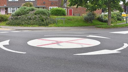 A roundabout on Fastolff Avenue, at the junction with Brasenose Avenue in Gorleston has been transformed.