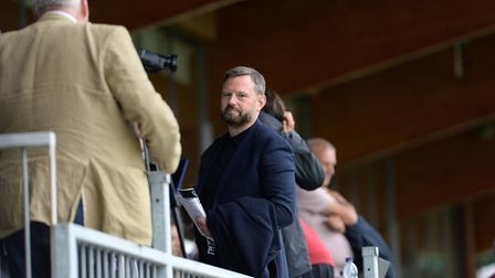 Mark Ashford in the stands during the pre-season friendly at Dartford