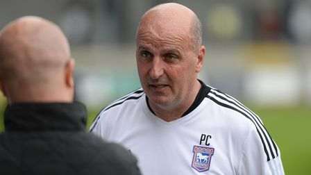 Ipswich Manager Paul Cook talks to the media after the pre-season friendly win at Dartford