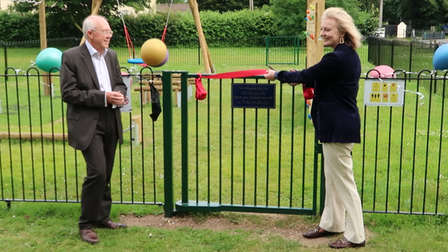The village of Oxborough, in south west Norfolk, unveiled its new playareaforlocalfamilies to enjoy.