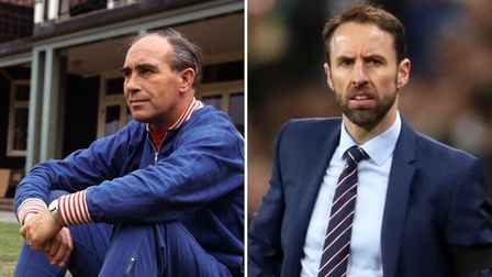Gareth Southgate, right, can emulate Sir Alf Ramsey if he can lead England to victory against Italy
