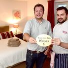Channel 4 Four in a Bed winner Sugar Beat, Swainsthorpe. Manager Stevie King, left and head chef Dav