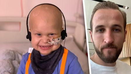 England striker Harry Kane sent the video to the family of Harry Crick
