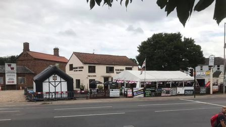 The Railway Tavern with the new Southgate Arms bar