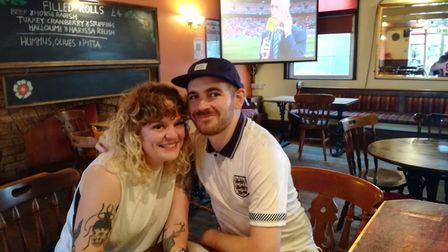 Becky Atkinson and Theo Oatley are backing England to win, and hoping for a bank holiday if they lift the trophy.