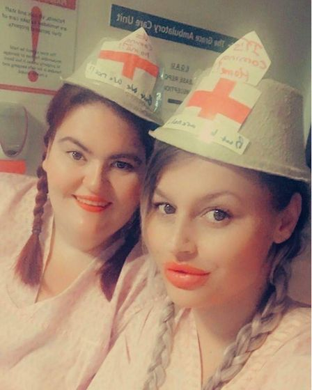 Kayleigh Biss and Victoria Jane on Stour Ward at Ipswich Hospital