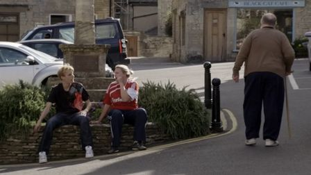 Kurtan, Kerry and Len at Northleach town centre.